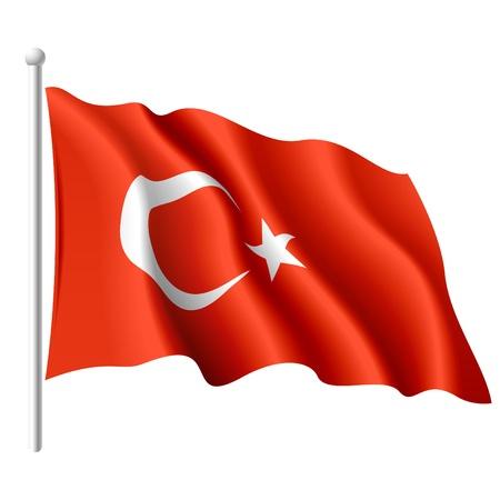 Drapeau de la Turquie Vecteurs