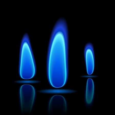 blue flames: Gas flame