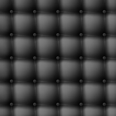 Black leather upholstery. Seamless illustration. Vector
