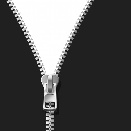 fastening: Black Zipper Illustration