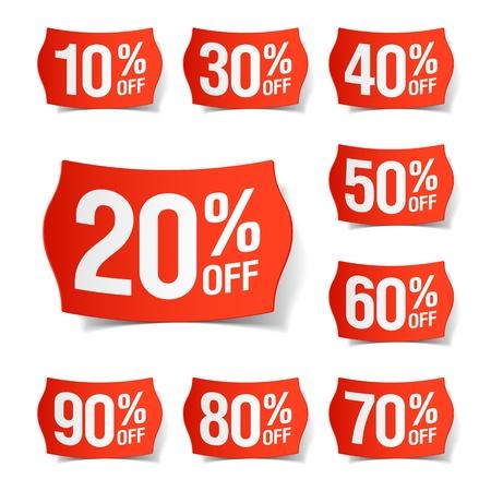 削減: 割引価格のタグ