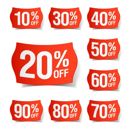 price reduction: Discount price tags Illustration