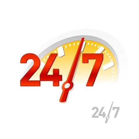 24 7: 247 sign Illustration