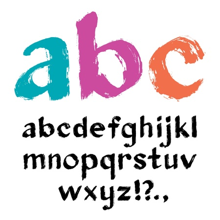 bright alphabet: Paintbrush alphabet