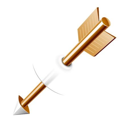 arco y flecha: Flecha. Fácil de poner a objetos diferentes.