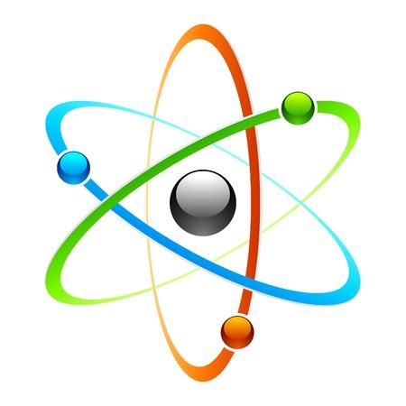 fizika: Atom szimbólum Illusztráció