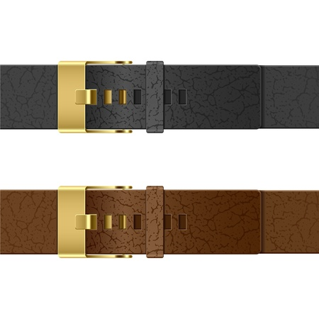 clasps: Leather belt