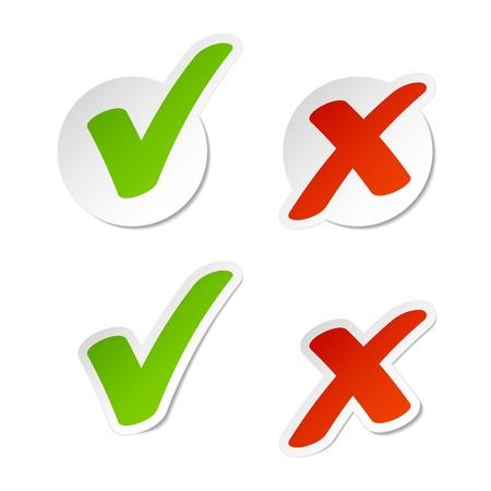 Selectievakje stickers Vector Illustratie