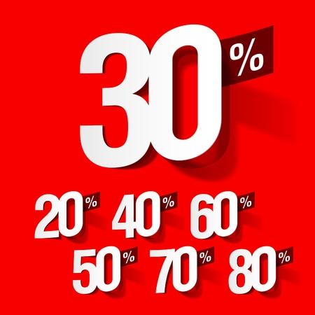 price cut: Vendita percentuali