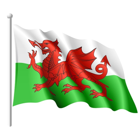 welsh flag: Flag of Wales Illustration
