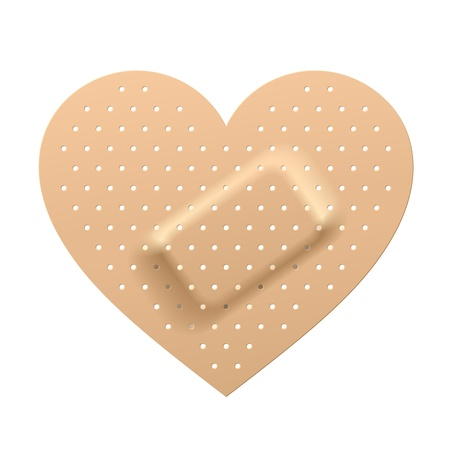 wound care: Plaster in shape of heart
