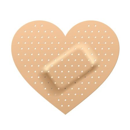 corazon roto: Yeso en forma de coraz�n