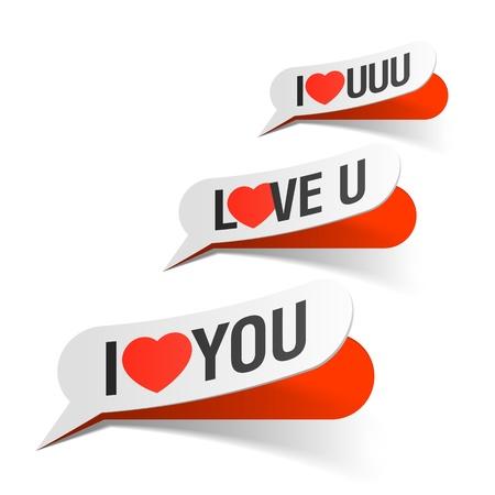 i love u: I Love You - bulles Illustration