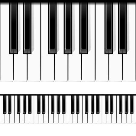 piano: Teclas de pianos. Ilustraci�n transparente. Vectores