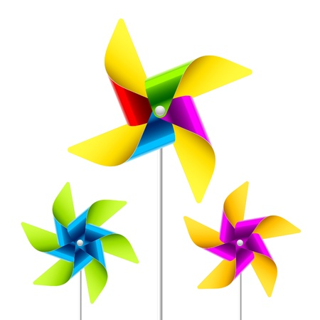 Pinwheel toys Vector