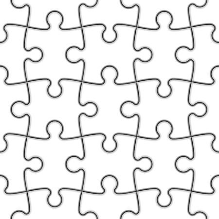 Seamless Jigsaw Puzzle Vector
