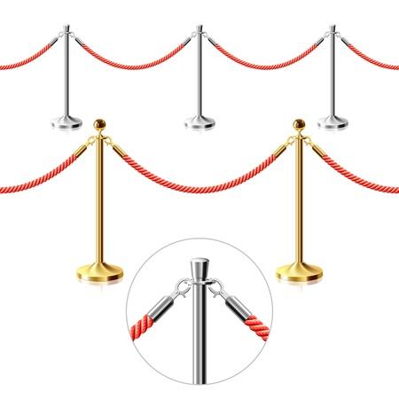 roped: Barrera de cuerda. Ilustraci�n transparente. Vectores