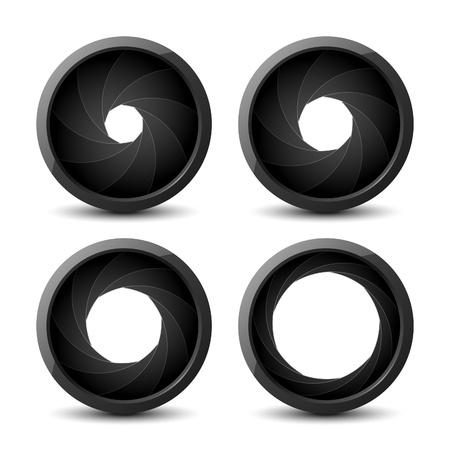 Shutter apertures Stock Vector - 9882255