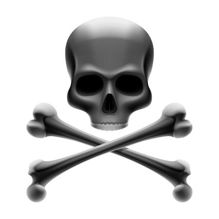 calavera pirata: Jolly Roger - cr�neo con huesos Vectores