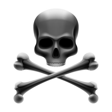 ominous: Jolly Roger - Skull with bones Illustration