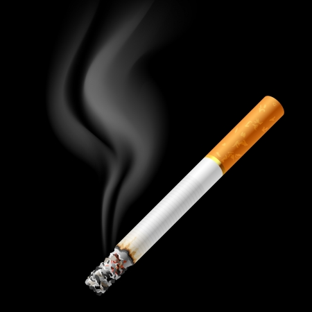 cigarette: Smoldering cigarette Illustration
