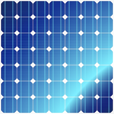 panel: Reflection in solar panels