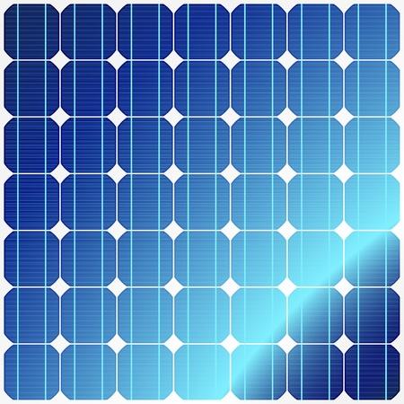 solar equipment: Reflexi�n en paneles solares Vectores