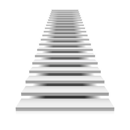 ladder of success: White staircase