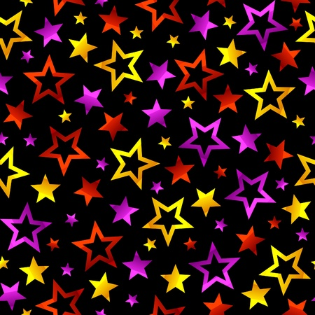 Seamless stars background Vector
