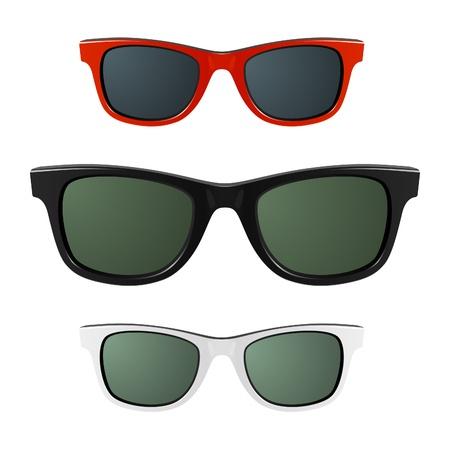 aislado: Gafas de sol Vectores