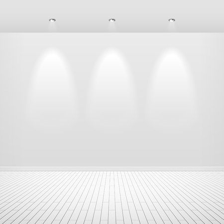 Empty white wall Stock Vector - 9882360
