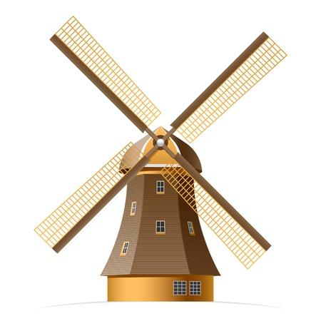 windmills: Molino de viento Vectores
