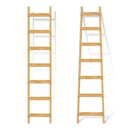 Wooden ladder Stock Vector - 9882377