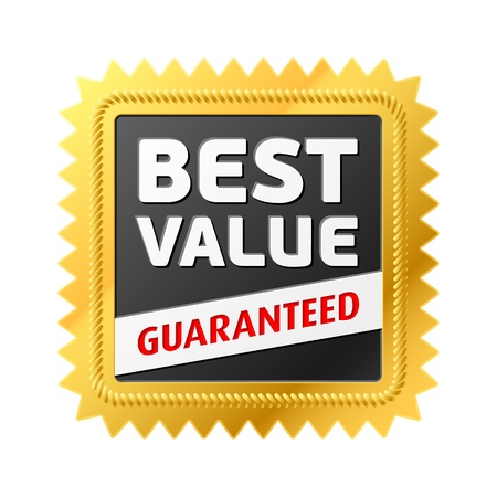 Best Value label Stock Vector - 9882299