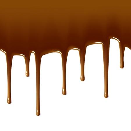chocolate melt: Gocce di cioccolato al latte. Illustrazione Seamless.