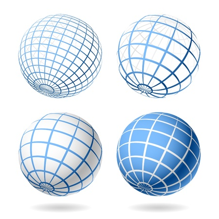 blue sphere: Globe design elements Illustration