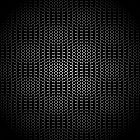hexagon background: Speaker grille