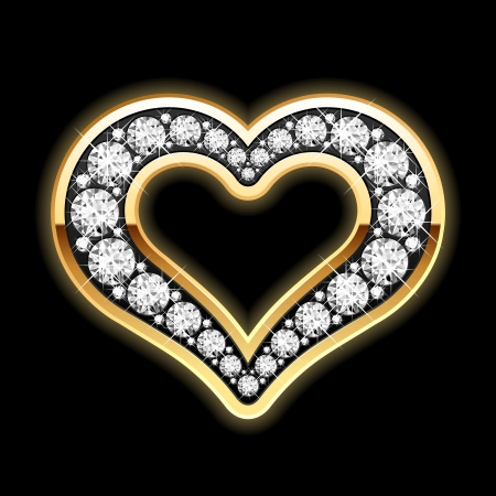 Heart in diamonds Stock Vector - 9882413