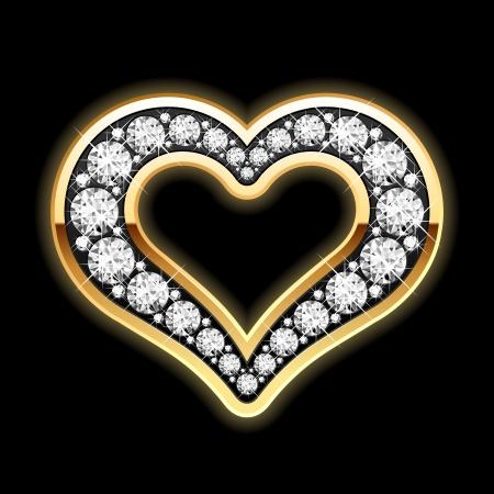 bling bling: Herz mit Diamanten Illustration
