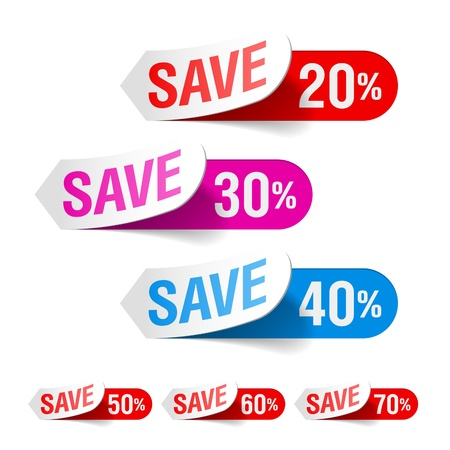 clearance sale: Discount labels