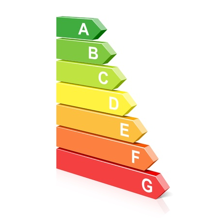 energy ranking: Energy classification symbol Illustration