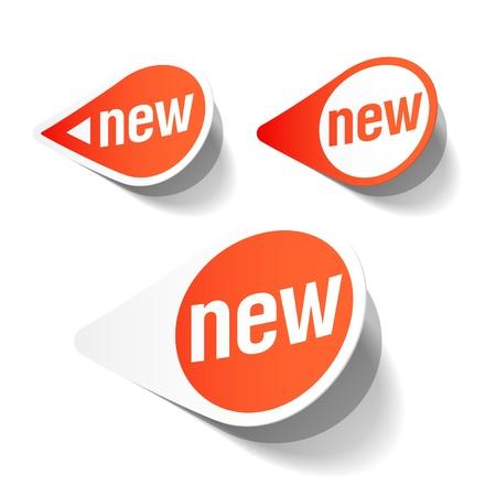 etiquetas redondas: Nuevas etiquetas Vectores