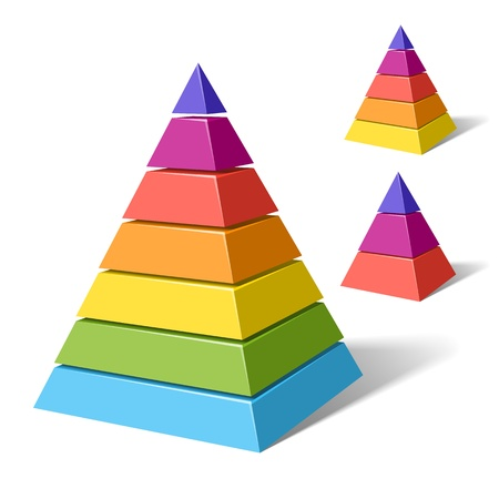 color chart: Layered pyramids Illustration
