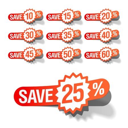Discount labels Stock Vector - 9882446