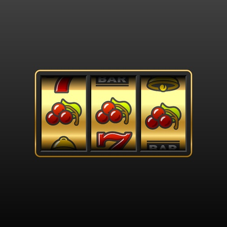 Cherries - winning in slot machine Vector