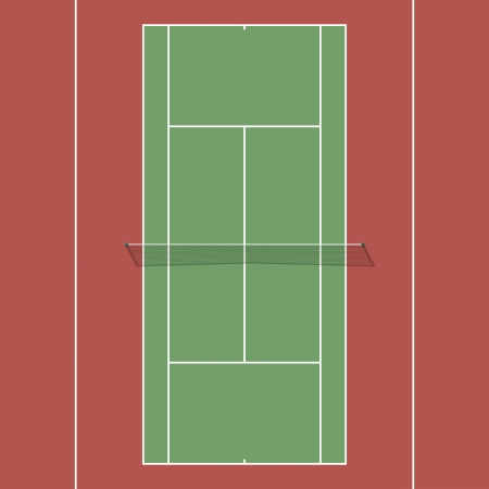 hard court: Tennis court