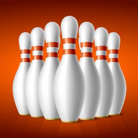 Bowling pins Stock Vector - 9882479