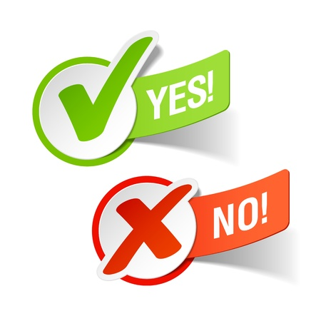 check mark sign: Yes and No check marks