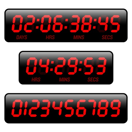 Countdown timer Stock Vector - 9882464