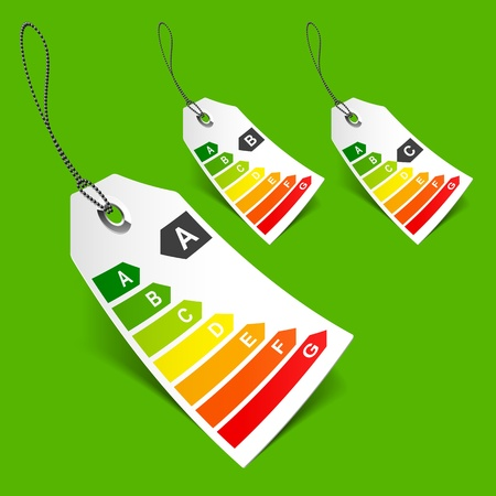 Energy classification tags Vector